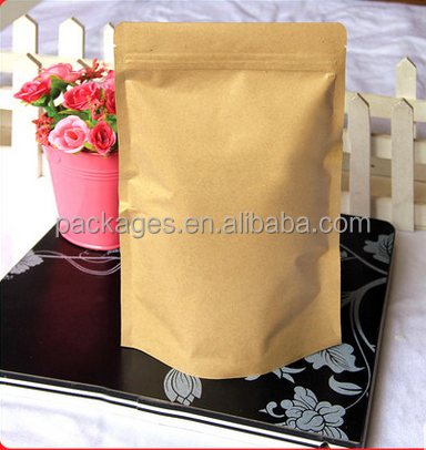 custom printed food grade material bag pouch potato chips paper bag / Kraft paper stand up
