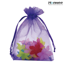 China manufacture customized printed organza bag with logo ribbon wholesale