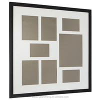 Picture photo frame, Black Grid photo frame, Wood Shadow Box Frame
