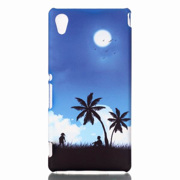 Fashion Cartoon Scenery Plastic hard Case For Sony Xperia M4 Aqua Dual E2303 E2333 E2353 Back Cover Phone Protective Bags