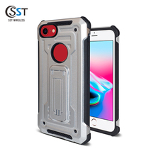 Hot sale 2018 two in one kickstand mobile cases for iphone 8 ,for iphone 7 phone case tpu pc ,anti shock for iphone 8 case