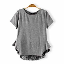 NEW1025 cheap wholesale casual tshirts korea simple daily women t-shirt newest t-shirts
