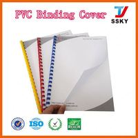 New A4 book protective clear plastic pvc cover printing