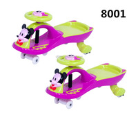 China Factory High Quality Plastic Products Kid's Toy Four Wheels Swing Car