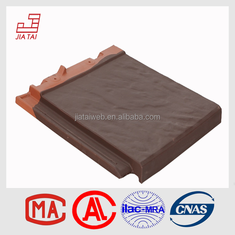 FS-5C30 flat style shock-proof culture clay roof tiles