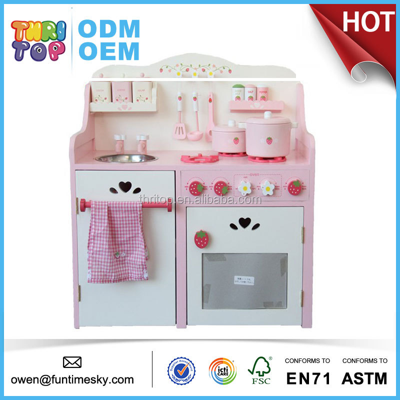 High quality kids wooden kitchen toy TH0104