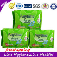Hot selling Great Quality Winalite Anytime Anion Sanitary Napkin , 245mm,Day use