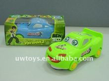 HOT SELL PLASTIC 15CM BEN10 B/O CAR TOY 2 ASST