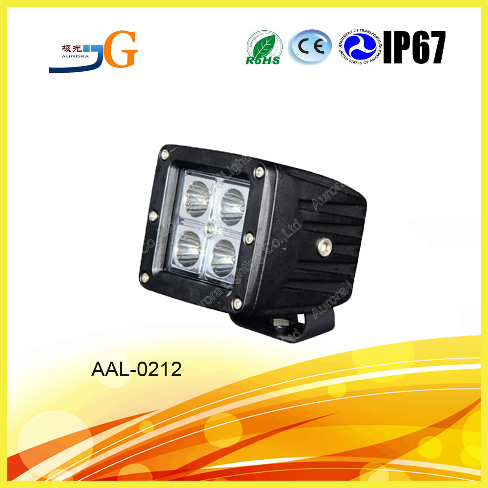 Automobile spot flood 12W led work lamp, offroad 12w led worklight, square 12w led working light Square led working light 12w