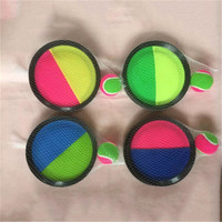 2019 Amazon Hot Selling Toss Catch Ball Set - Self Stick Toss and Sport Catch Ball Game Educational Paddles And Ball