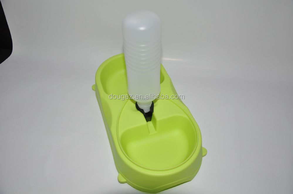 Factory stocked double silicone pet bowl ,High quality portable dog water bowls .