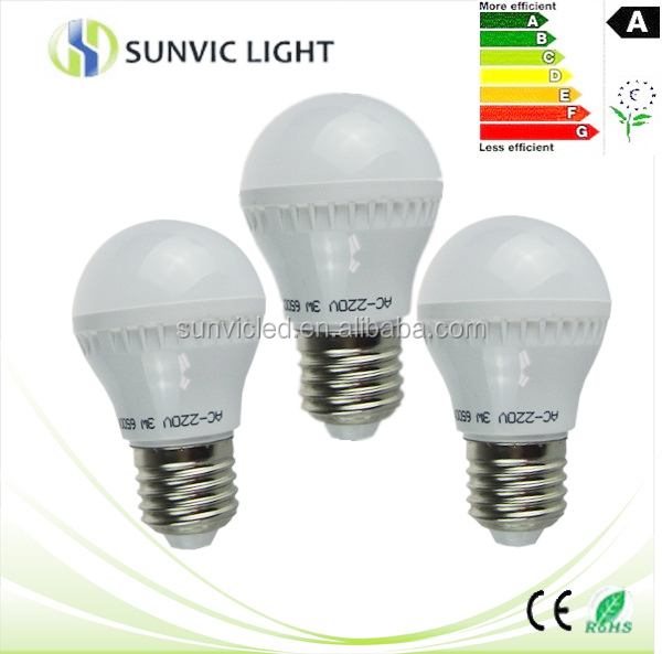 2014 hot sale Guzhen best price PC cover+ Aluminum PCB 3w plastic led bulb lights