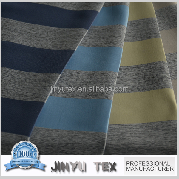 2015 new pattern color yarn multi stripe sheer curtains