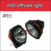 7inch driving light automobile, 35w 55w hid offroad light with internal starter and ballast