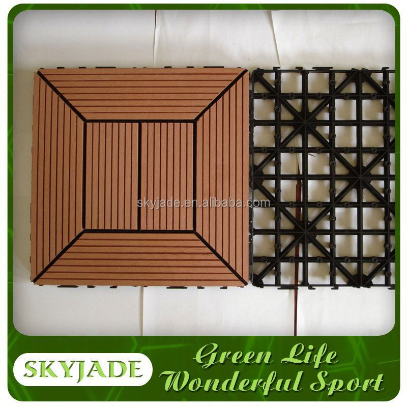 Anti-Slip Interlocking Wpc Flooring/Decking Tiles