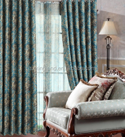 latest curtain designs 2017 240gsm blackout luxury jacquard curtain for USA market