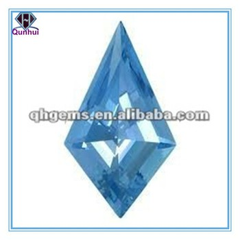 The diamond shaped Light blue Cubic zirconia