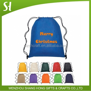 New 2016 christmas gift bag santa sack non woven drawstring bag