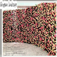 beautiful wall hanging artificial flowers, plastic fake flowers arch, wedding decorative rose flowers