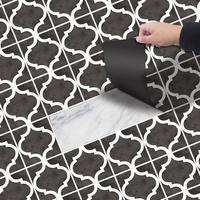 FUNLIFE Free Shipping Zahara Black PVC Self adhesive 20*300cm Waterproof AntiSlip Floor Sticker for Tile Floor Decoration EWF015