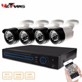 HD 4CH 720P Waterproof Street CCTV Camera System cctv camera kit 4ch h.264 cctv ahd dvr kit cctv