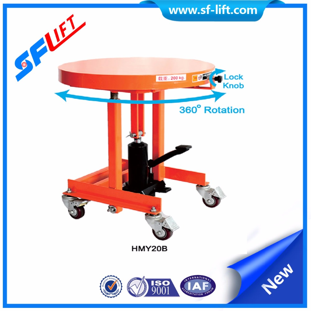Rotation Lift Table For Garden