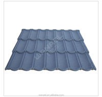 Stone Chip Coated Metal Roof Tile Sheet For villa house