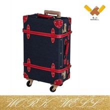 WorkWell Vintage pvc leather luggage suitcase with Wheels Trolley Luggage Kw-L02