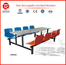 fast food restaurant furniture 8 seater dining table fiber glass dining table and bench