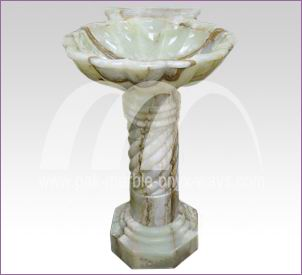 GREEN ONYX PEDESTAL SINK