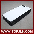 DIY blank coated 2D silicone case cell phone cover for iphone 5s