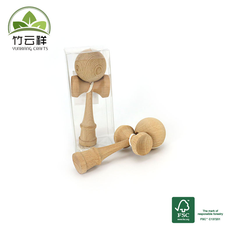 Wooden kendama made from schima wood Educational children's toys