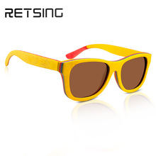 2017 Newest OEM Skateboard Wooden and bamboo Sunglasses with polarized lens