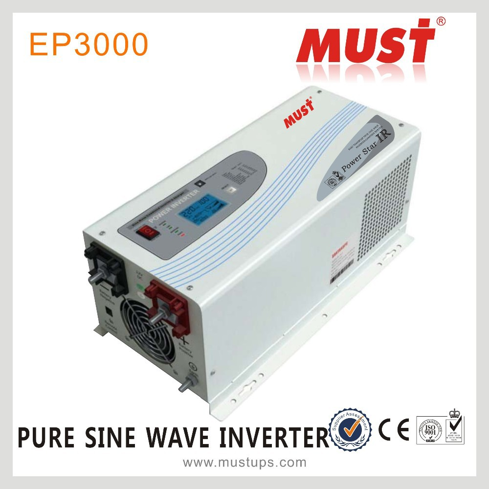 <MUST POWER>HOT SALE 12v 220v UPS 2000w inverters with battery charger/Solar power inverter