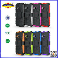 For HTC One M8 mini Hyperion Explorer 2-pc Hybrid Protective stand Case Cover --Laudtec