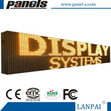 DIGITAL SCROLLING LED SIGNS PROGRAMMABLE YELLOW OUTDOOR MESSAGE BOARD