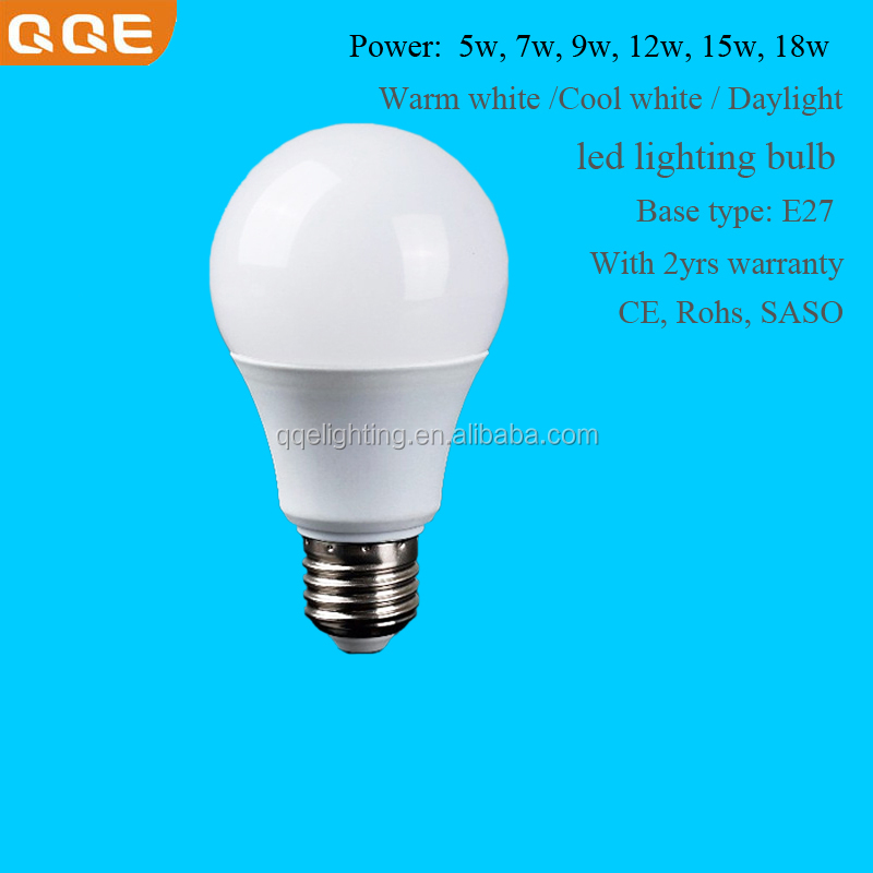 Factory direct OEM led bulb Rate 15w indoor lighting lamp E27 AC85~265V Warm white/ Daylight