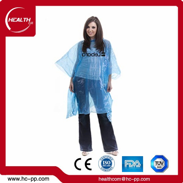 promotional cheap plastic pe transparent disposable rain poncho