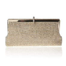 cheap simple style rhinestone women bags crystal clutches