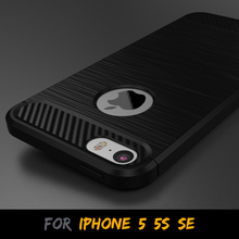 Fashion Design Soft TPU Carbon Firber Pattern case for iphone 5 5s SE High Quality