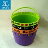 New Design Halloween Decorations Plastic Colorful Candy Bucket