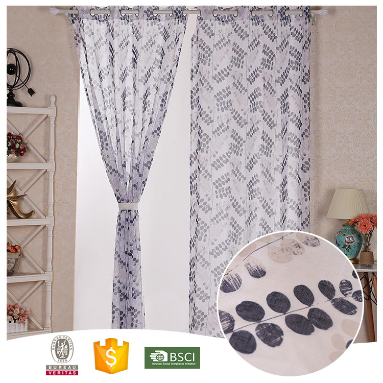 2017 China Manufacturer High Quality Best Black & White Curtains