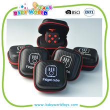 High Quality Silicon Click Fidget Cube Relieves Stress Fidge Magic Cube with case box and logo printing