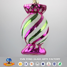 Cheap fashion candy shaped unusual blown glass animal ornaments