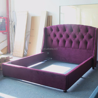 Purple king bed headboard with latest wooden furniture designs Princess G