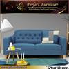 chesterfield American style modern fabric wooden sofa set with simple desgin