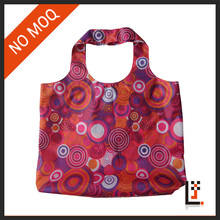 Hanging reusable folding polyester foldable shopping bag