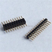 New gadgets single row 180 degree pin header 1.27 1mm pitch connector