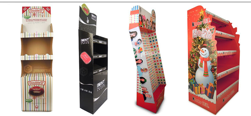 corrugated cardboard display shelf for supermarket