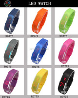 R0775 promotional led watch rainbow silicone wrist watch